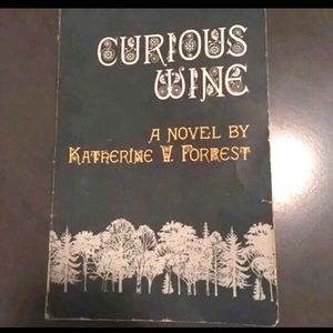 Curious Wine fiction book signed by author